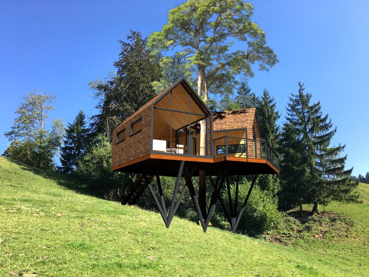Baumhaus mit Aussicht